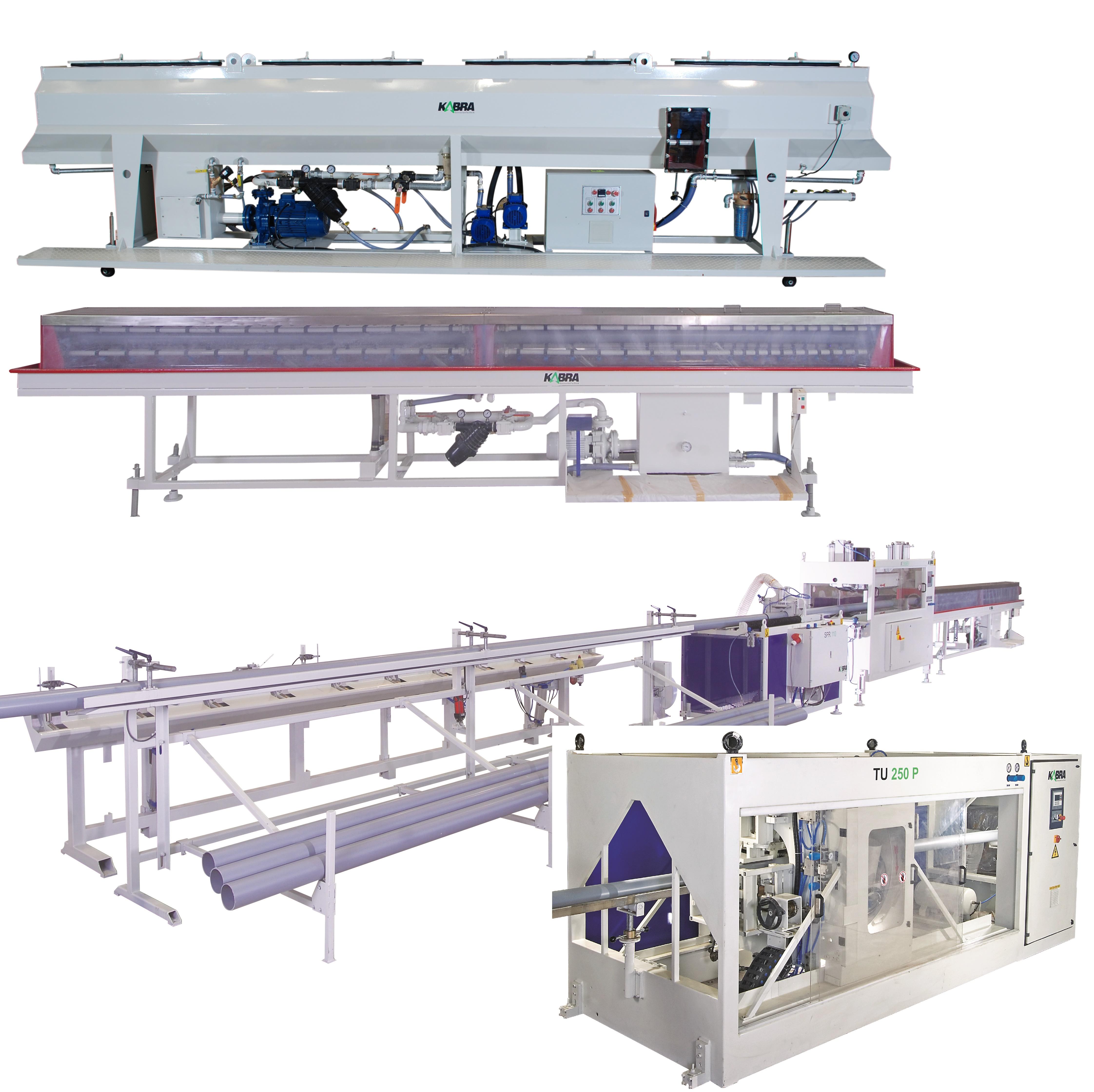 Máy định hình ống, máy cắt ống, máy xếp chồng ống, bể phun nước mát - KABRA - Kolsite